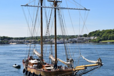 Wonderful news! The beautiful tall ship Johanna Lucretia