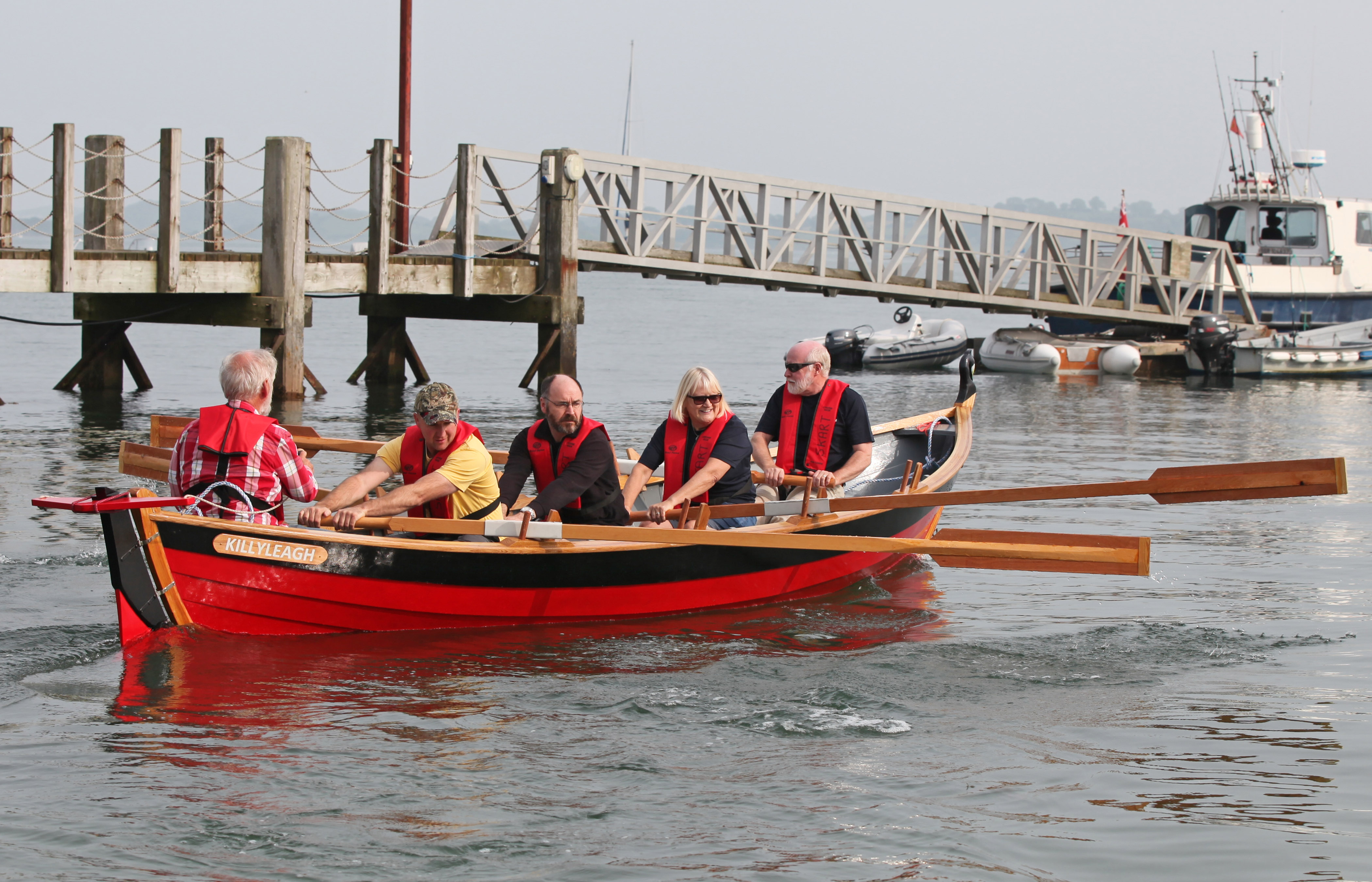 Killyleagh St Ayles Skiff Launch