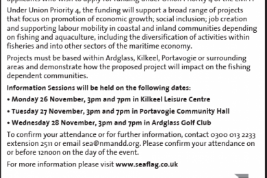 South East Area Fisheries Local Action Group Information Sessions