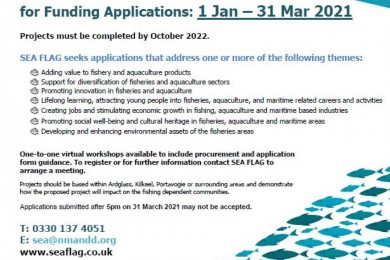 SEAFLAG OPEN CALL FOR FUNDING APPLICATIONS
