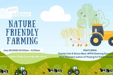 Investing in Nature Friendly Farming Webinars with the RSPB and the Nature Friendly Farming Network
