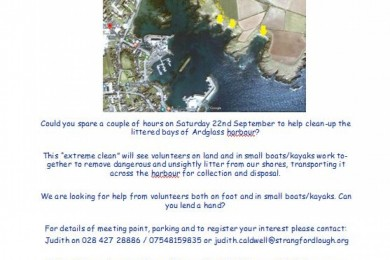 Ardglass Shore Clean Funded by Live Here Love Here Saturday 22nd September 2018